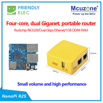 NanoPi R2S minirouter, RK3328 podwójny Gbps Ethernet 1GB DDR4 OpenWrt/LEDE