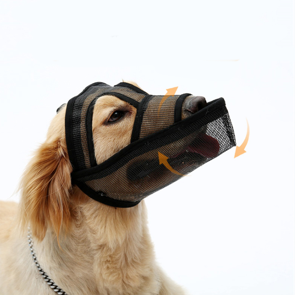2020 Pet Dog Adjustable Mask Mesh Breathable Mouth Muzzles Anti Bark Bite Chew Dog Training Tool Comfortable Suit Mouth Masks