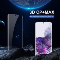 強化ガラス三星銀河 S20 プラス Nillkin アメージング 3D CP + 最大ナノ保護ガラス s20 プラス