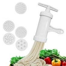 Ручной прибор для лапши пресс машина для пасты кривошипная машина кухонная утварь с 5 различными пресс-формы сделать Спагетти кухонные инструменты