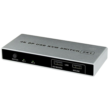 Controller Connection Mouse Support Computer HDMI USB KVM Switch Monitor 1 Out 4K 60Hz Stable Dual Port VGA Displayport