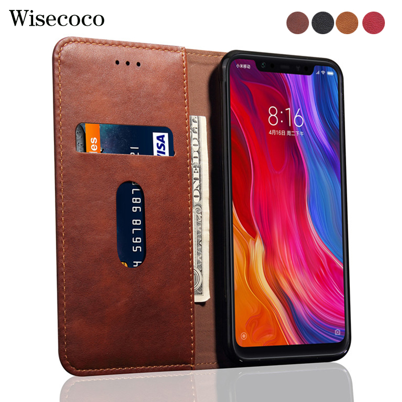 Flip Case for <font><b>Xiaomi</b></font> <font><b>Mi</b></font> 9 9t <font><b>8</b></font> Se A2 <font><b>LITE</b></font> 6X 5X A1 F1 Luxury Leather Wallet Stand Phone Cases for Redmi K20 6A Note 5 6 7 Pro image