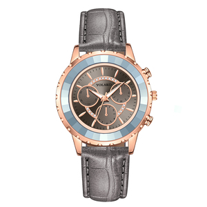 Image 2 - Luxury Brand Three Eyes Dial Women Wrist Watches Casual Ladies Quartz Dress Watches Montre Femme Dropshipping