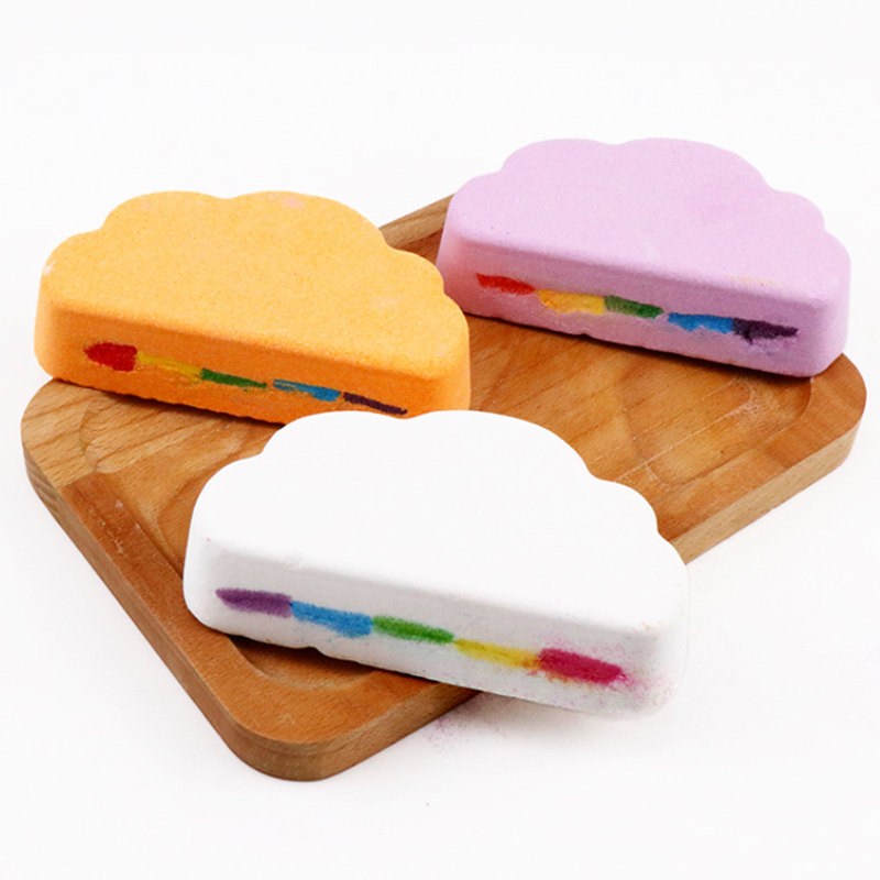 High Quality Bath Salt Rainbow Soap Ball Skin Care Handmade Bath Bomb Bubble Massage SPA