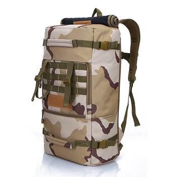 Trekking travel tear-resistant waterproof military mountaineering bag sports backpack 50L large capacity three-use bag