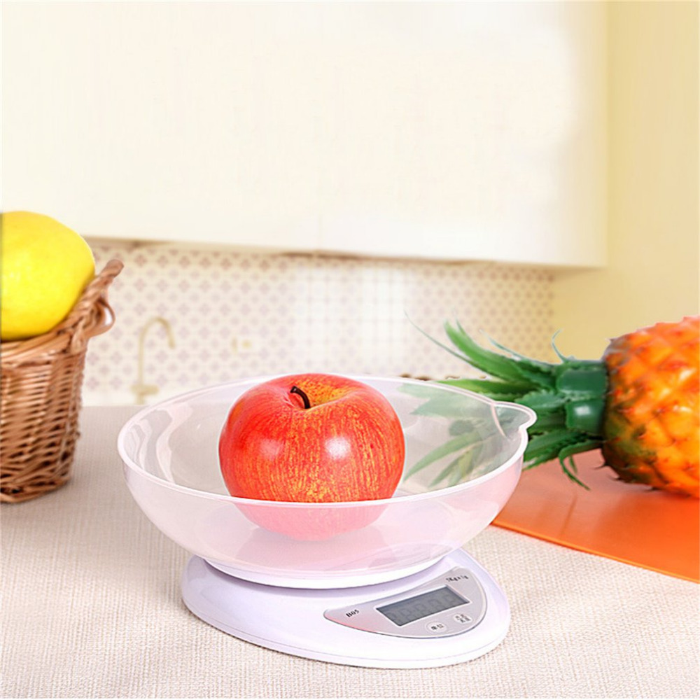 5000g/1g 5kg Digital Scale Food Diet Postal Kitchen Scales Balance Measuring Weighing Scales LED Electronic Scales Dropship