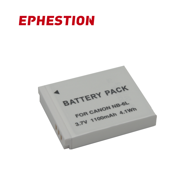 EPHESTION NB 6L NB6L Battery For Canon Camera SX520 HS SX530 SX600 SX610 SX700 SX710 IXUS 85 95 200 210 105 High Capacity