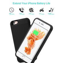 IPhone 6 6s için güç banka şarj kılıfları için 2800mAh pil şarj kılıfı iPhone 6 6s ultra ince harici sırt çantası