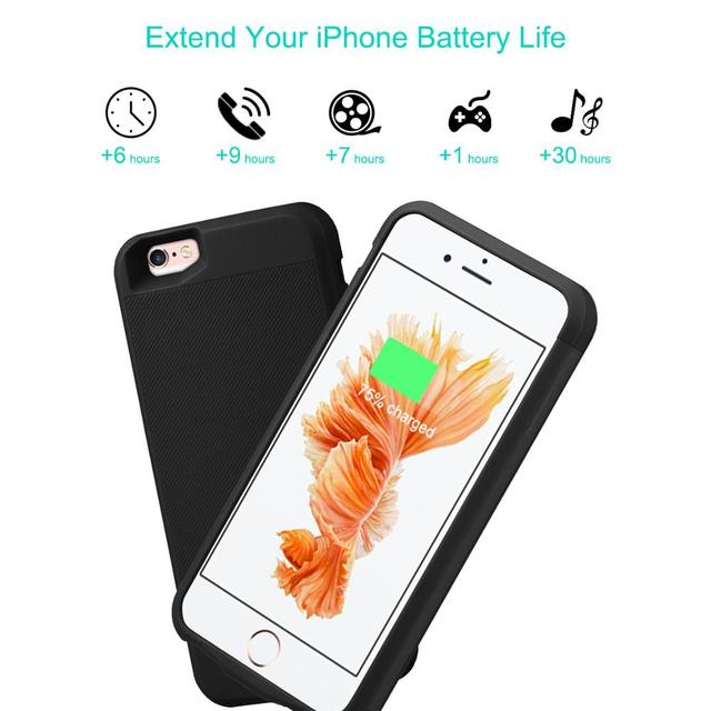 for iPhone 6 6s Power Bank Charging Cases 2800mAh Battery Charger Case Cover for iPhone 6 6s Ultra Slim External Back Pack