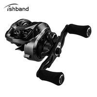 7.2:1 Speed Ratio Right Left Hand Baitcasting Carbon Rocker Arm Fishing Reel GH100 Shallow Spool Fishing Wheel