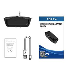 Wireless Bluetooth 5.0 Adapter for PS4 Aux Audio Receiver with Handsfree Fast Charging With He