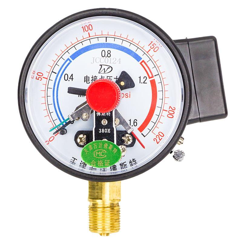 Medidor de Vácuo Contato Elétrico Pressão Negativa 1.6 Controle Eletrônico Medidor Água Yx100