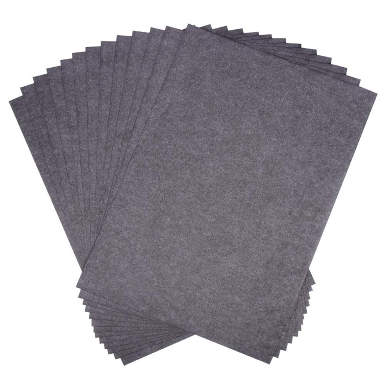 200 Sheets Of Black Carbon Transfer Tracking Graphite Paper (9 X 13 Inches) For Wood, Paper, Canvas And Other Art Surfaces