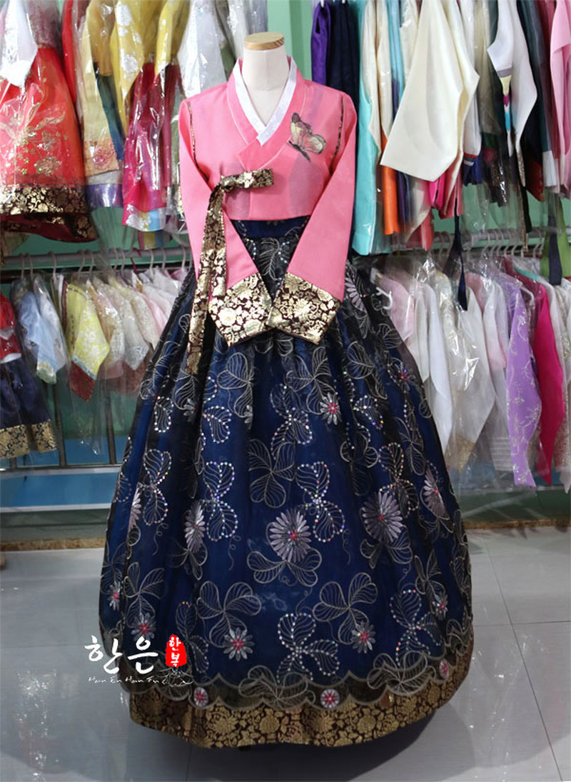 South Korea Imported High-end Fabric / The Latest Mother Hanbok / Stage Performance Improved Hanbok