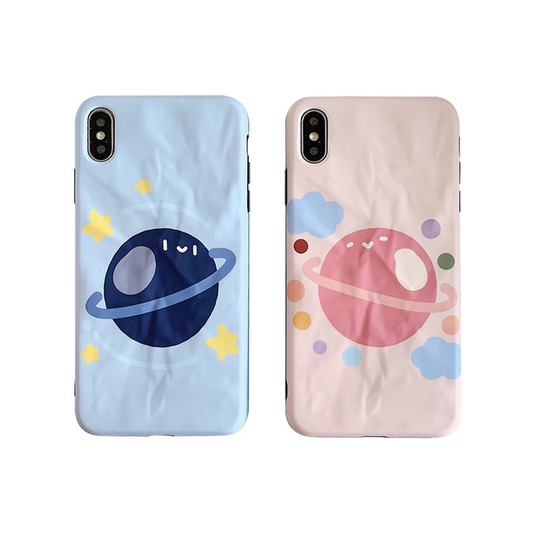 Cute Cartoon planet origami candy pink friends Phone case for coque iPhone 7 6 6s 8