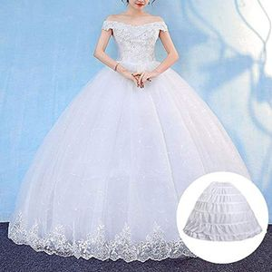 Image 2 - 6 חישוקים אין חוט גדול חצאית הכלה כלה חתונה שמלת תמיכה תחתונית נשים תלבושות חצאיות רירית