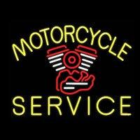 NEON SIGN For Motorcycle Service NEON Lamp Garage GLASS Tube Affiche Neon Decor Window Handcraft anuncio luminoso Dropshipping