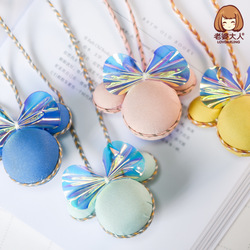 His Wife Bear Bright Skin Jelly Color Bow Cartoon CHILDREN'S Necklace Princess Necklace Choker Sweater Chain