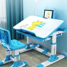 Chair-Set Table-Lamp-Storage Kids Desk Study Height-Adjustable Tiltable Children And