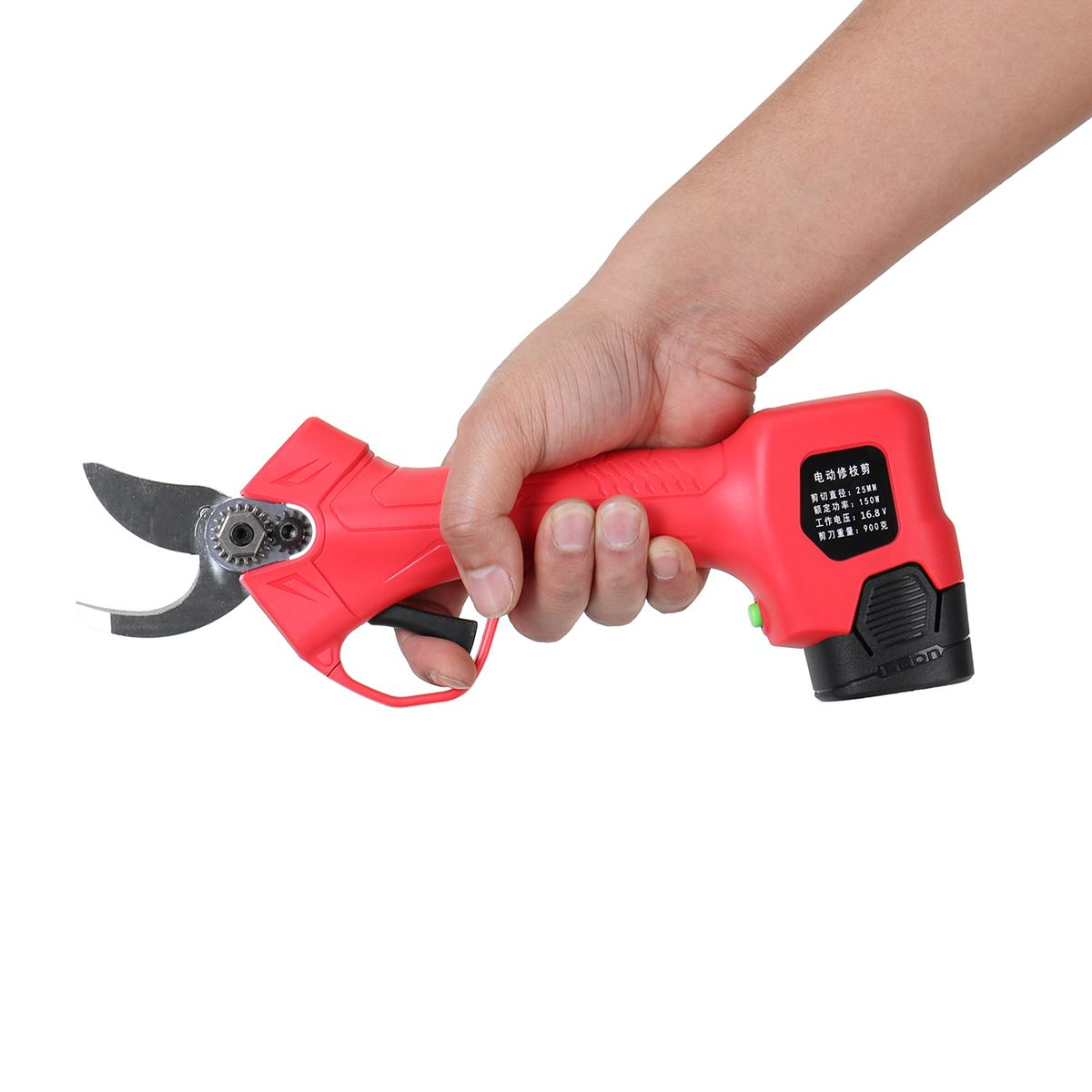Wireless 16.8V 25mm Electric Garden Scissor for Brach Pruning with Li-ion Battery and USB Charger 14
