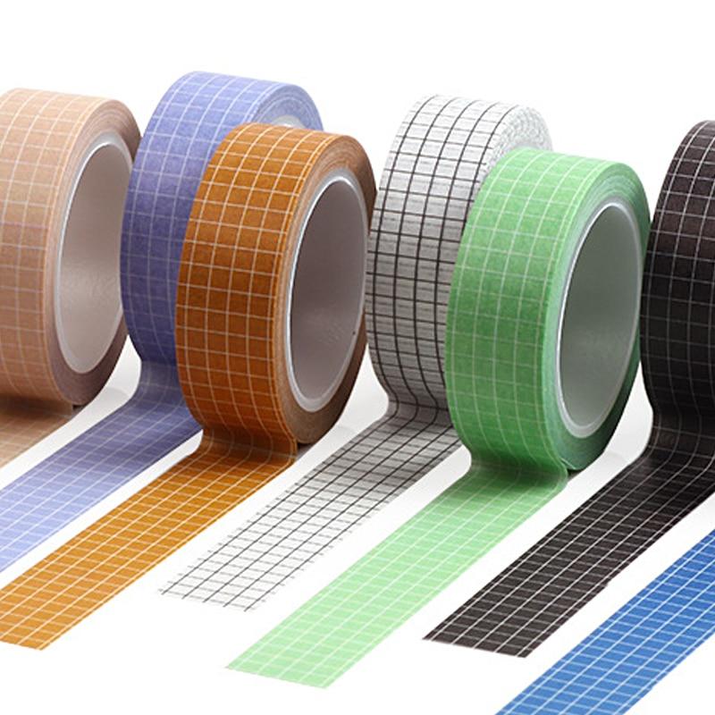 10M Pure Color Grid  Washi Tape Set Masking Tape Bullet Journal Supplies Washy Tape  Organizer Washitape Black