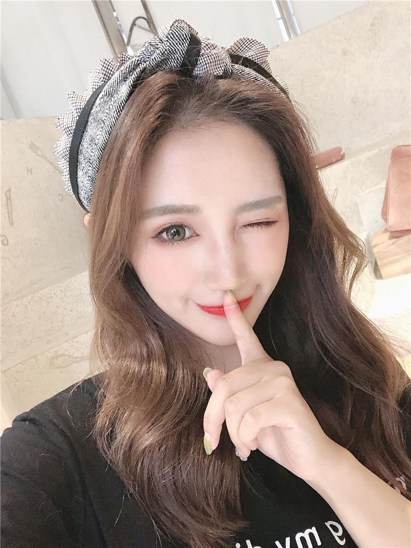 Arte Tecido hairband Coreano moda Mulheres Meninas