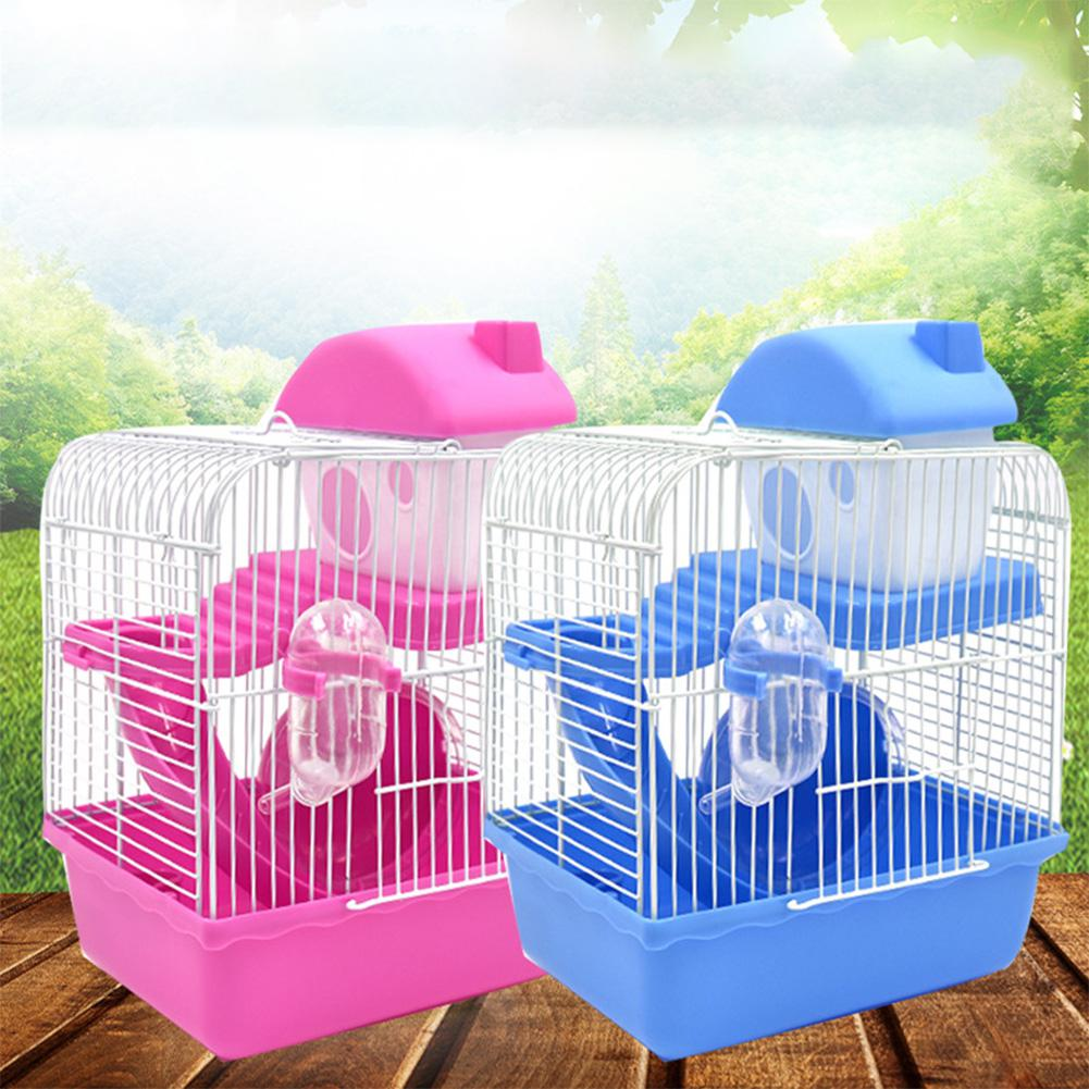 TPFOCUS Hamster Cage Double Layer Pet Cage Castle Toy For Pet Hamster Supplies Plastic Portable Style Large Interior Space
