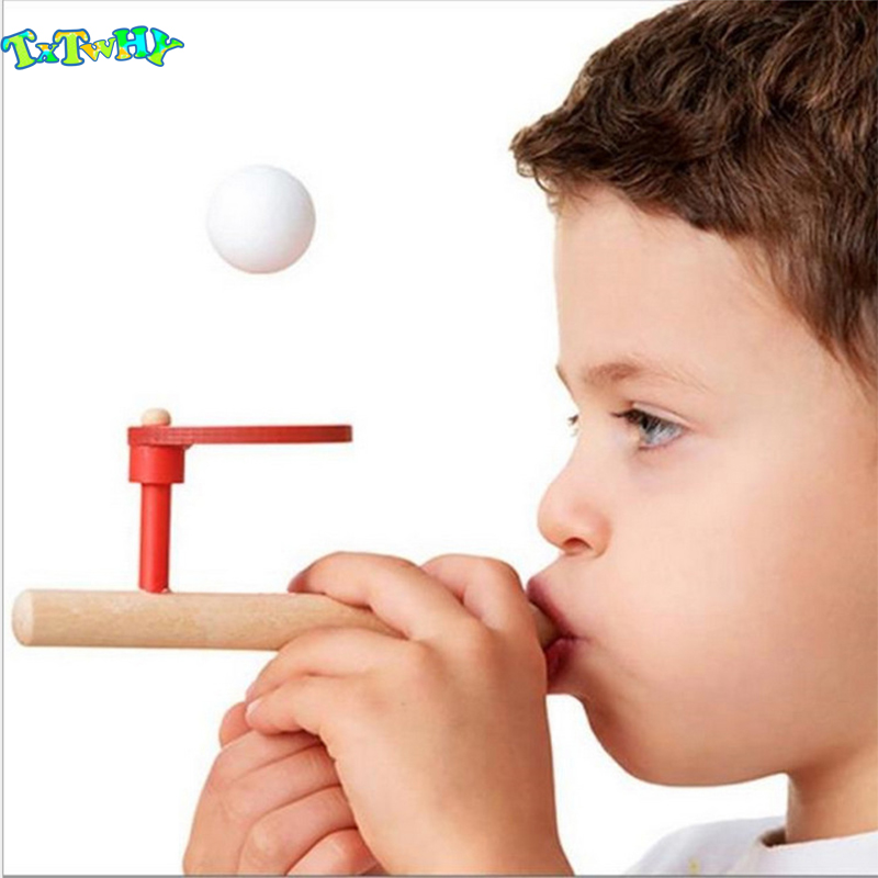 2019 Useful Wooden Blowing Ball Balance Spirometry Training Training Capacity Stick For Children Kid Learning Educational Toys