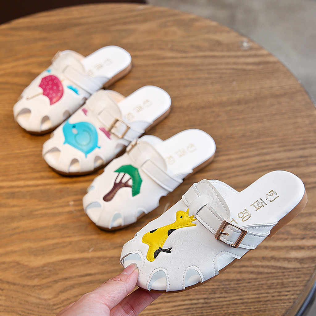 Fashion Children Boys Girls Summer Animal Leather Slipper Casual Sandals Shoes