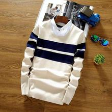2019 New Fashion Brand Sweater Mens Striped Pullover Slim Fit Pullovers Knitred Wool Autumn Korean Style Casual Men's Clothing new fashion brand sweater for mens cardigan slim fit jumpers knitwear warm autumn korean style casual clothing men