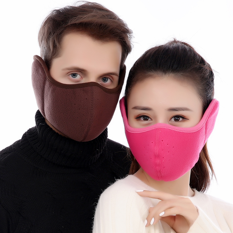 Womens Winter Fashion Warmers Men Velvet Cotton Masks Embroidered Earmuffs Red Ear Muffs Windproof Dustproof