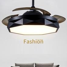 Современные потолочные вентиляторы свет Невидимый потолочный вентилятор с пультом дистанционного управления 36 дюймов 42 дюйма Dimmable Inlcuded 220V 110V