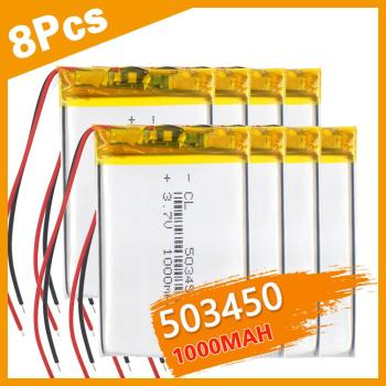3/4/8PCS 1100 mAh 543450 3.7V Polymer Lithium Rechargeable Battery Li-ion Battery 503450 523450 for Smart Phone DVD MP4 Led Lamp image