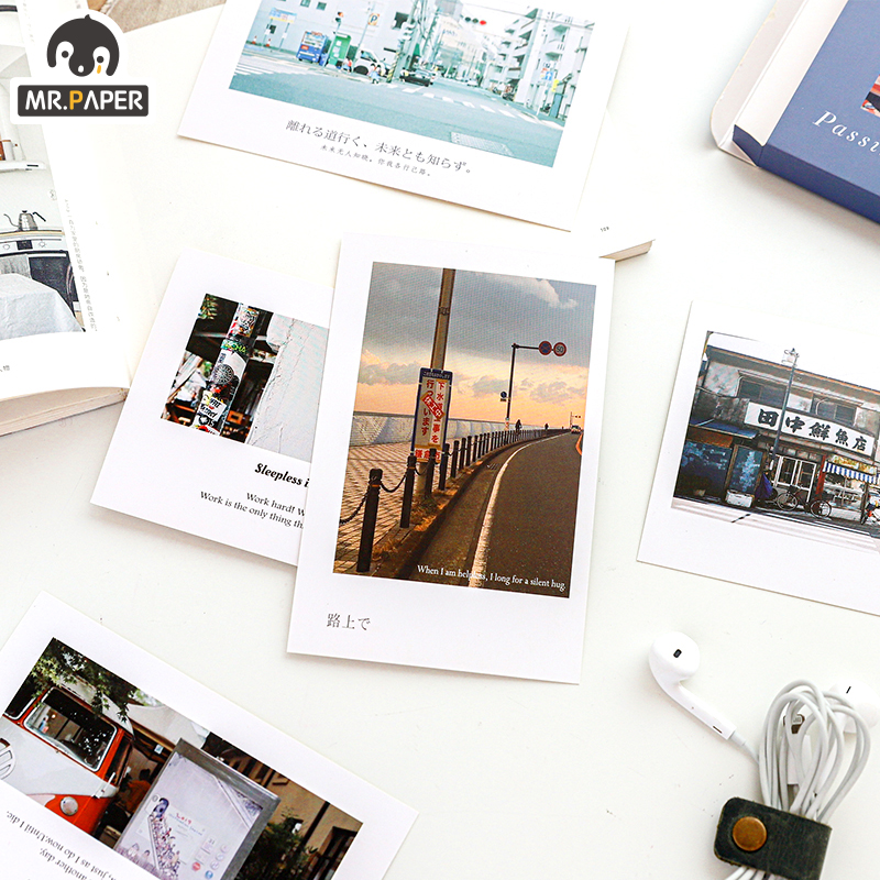 Mr.Paper 25pcs/set Life Album Poetry Postcards Letters Photo Memory Set  Japanese Creative Ins Writing Greeting Gift Postcards