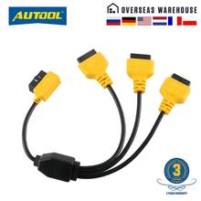 For DB9 Diagnostic Tools Connection LoongGate DB9 4 Head to OBDII 16 Pin Adapter Connector Cable