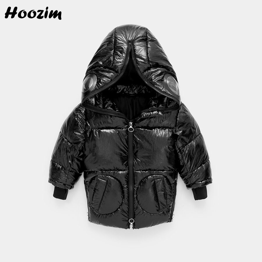 2019 New Monster Jacket For Boys 3-9 Years Fashion Black Hooded Parka Children Winter Coat For Girls High Street Kids Outerwear image