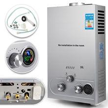 Газовый газовый нагреватель горячей воды 16л по требованию безтанковый мгновенный котел 4.3GPM