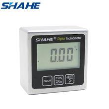 Digital caixa chanfrada medidor de ângulo mini transferidor digital 360 graus ímãs base digital inclinômetro eletrônico transferidor