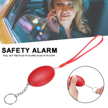 For Women Children Elderly Portable Self Defense Emergency Alarm Egg Shape Security Protect Alert Scream Loud Keychain