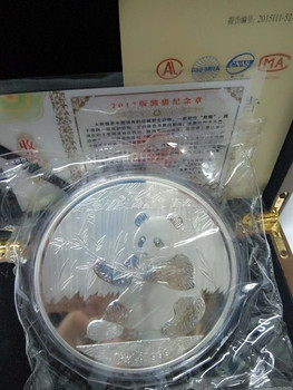 Clearance sale 2017 Chinese Panda commemorative plated plated silver coin 1kg with COA and box for collection gift present