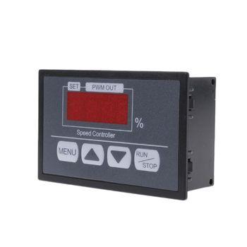 2021 neue 6-60V PWM DC Motor Speed Controller Mit Digital Display Panel Taste Gouverneur