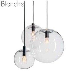 Moderne Glas Ball Anhänger Lichter Nordic Einfache Led Hanglamp für Küche Auto Restaurant Kaffee Hotel Indoor Decor Lampe Leuchten