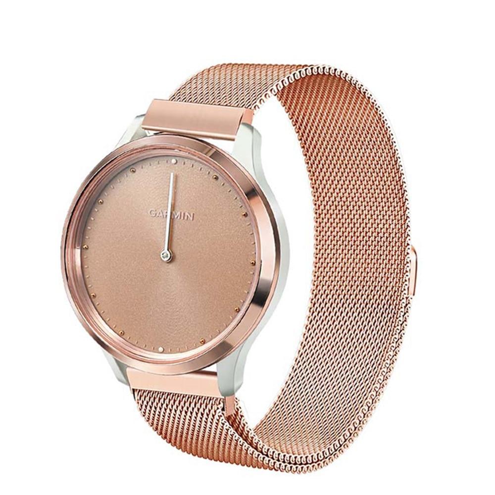 Milanese Loop Watchband For Garmin Vivomove3s / Vivomove HR / Vivomove 3s Vivoactive Watch Band Magnet Strap Belt Wrist Bracelet