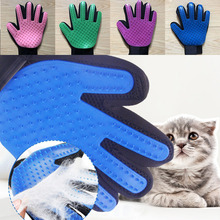 Gloves Hair-Remover Animal-Brush Cat Finger Cat-Dog-Pet Beauty Silicone
