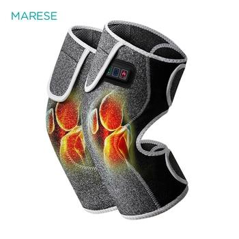 MARESE Wireless Knee Electric Vibration Massage far Infrared Heating Knee Joint Rheumatoid Arthritis Knee Pain Reliever Machine