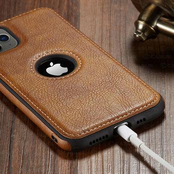 Pour iphone 11 11 Pro 11 Pro Max étui de luxe en cuir d'affaires couture housse pour iphone XS Max XR X 8 7 6 6S Plus étui 4