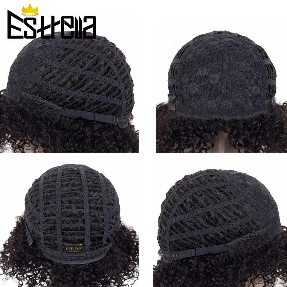 ジェリーカールかつらペルー人毛ウィッグ黒人女性ショートカールウィッグ非レミー 1B 99J 色 100% 人間の髪高速配送