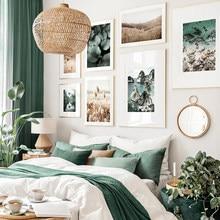 Flores secas folhas de palmeira grama praia ondas natureza pintura da lona cartaz impressão arte da parede fotos para sala estar decoração casa