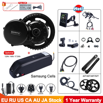 48V 750W Bafang BBS02B Mid Drive ebike Motor Electric Bike Conversion Kit 12Ah 17.5Ah 52V 14Ah Lock Bicycle Battery Samsung Cell