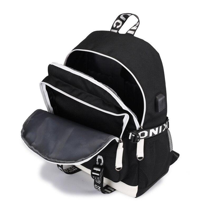 bagpack usb carga multifuncional homem crianças adolescentes